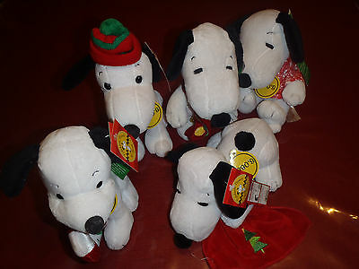 """Celebrate Peanuts 60 Years"" Snoopy 1950's thru 1990's Set of 5 NWT"