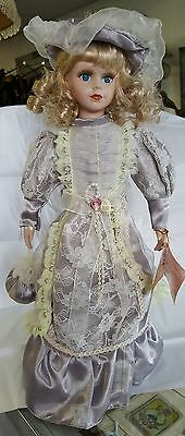 """The Rose Collection 17"""" Victorian Porcelain Doll Carrie Limited Edition"""