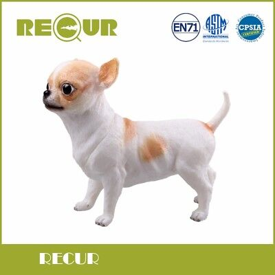 Chihuahua Dog Pet Delicate Figure Model Hand Painted Soft PVC Animal