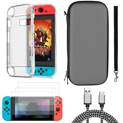Accessories Case Bag/Shell Cover/Charging Cable/Protector for Nintendo Switch Rw