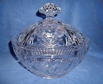 Vintage Cut Crystal Covered Dish