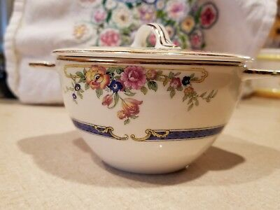 Johnson Brothers Parkeet Lidded Sugar Dish Hard to Find