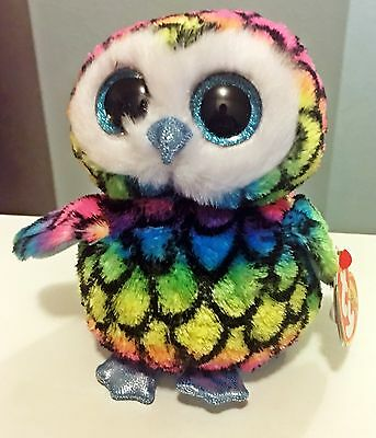 7093a805fa7 Aria Ty Beanie Boos 6 Inch - MWMT - multicolored owl - FREE SHIPPING