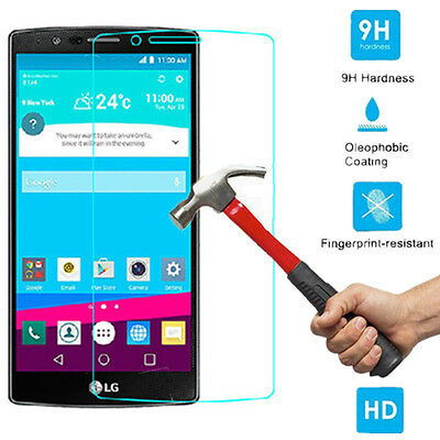 For LG G3 G4 9H Premium Ultra Thin Slim Tempered Glass Screen Protector Film OU