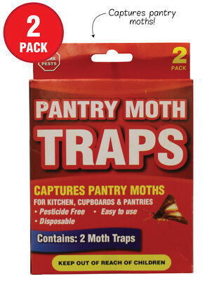 2 X Pantry Moth Traps BUG Grain, Flour, Meal, and Seed Moths, Traps and kills