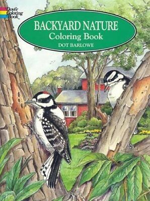 Adult Coloring Book: Backyard Nature Dover Wild Animals Detailed Illustrations