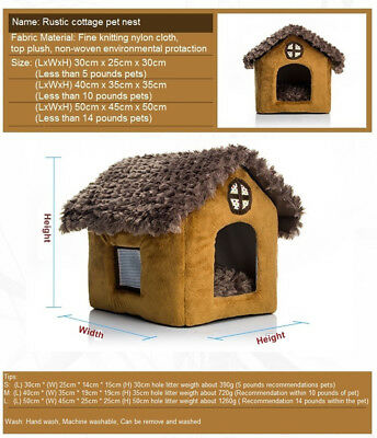 Pomeranian Bichon small dog kennel dog house L 	cottages