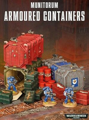 Munitorum Armoured Containers Games Workshop Tabletop Terrain Container Terrain