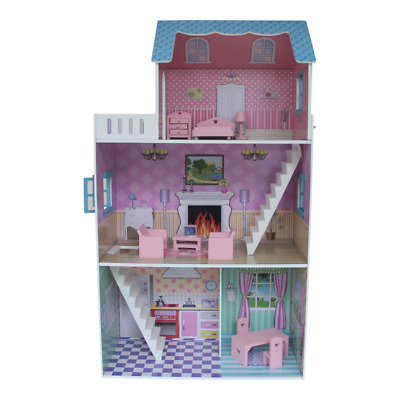 Townhouse Dollhouse With Furniture Picclick Uk