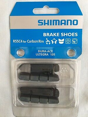 Shimano Dura Ace 9000 R55C4 Carbon Road Bike Brake Pad Inserts 2 Pair Ultegra