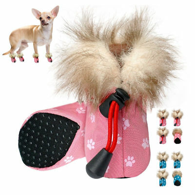 4pcs/pack Waterproof Pet Dog Shoes Boots Non Slip Luxury Paw Print for Puppy S-L