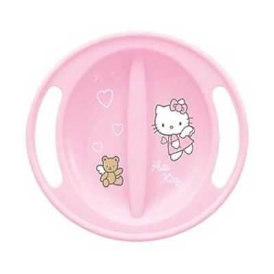 Hello Kitty Microwave Safe Pink Baby Feeding Plate