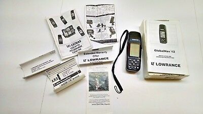 Lowrance GlobalNav 12 Handheld GPS Receiver With Instructions