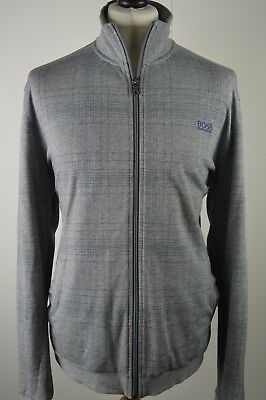 Premium men's Hugo Boss black label mid grey zipped cotton jacket medium