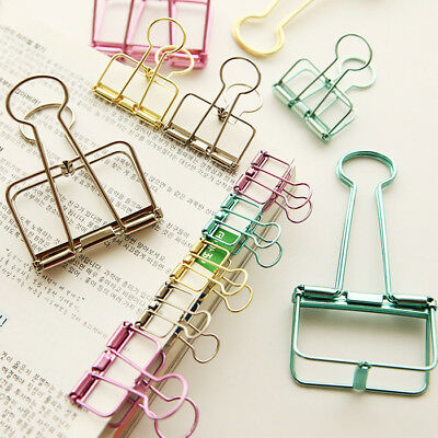 20pcs/lot Metal Binder Clips Small Craft Photo Pegs office bookmarks 8Color Size