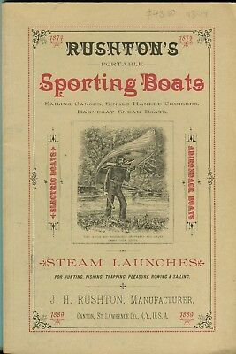 Rushton's Portable Sporting Boats and Steam Launches, 1889 catalogue