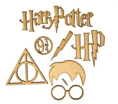 Harry Potter Craft Set Glasses, lightning strike, sign and Hair! Embellishments