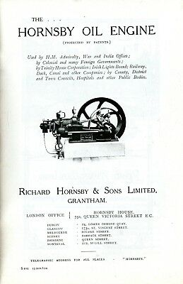 Hornsby Oil Engines October 1912 sales book No. S.102, reprint