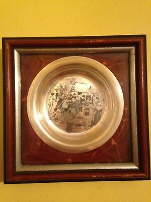 1972 Franklin Mint The First Annual Thanksgiving Plate Solid Sterling Silver