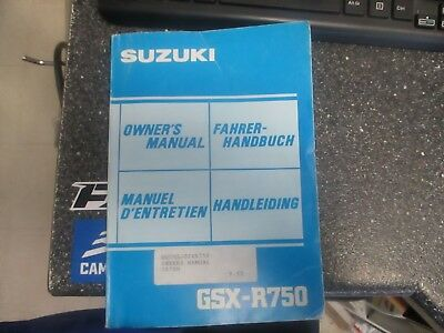 1984  gsxr 750 owners manual