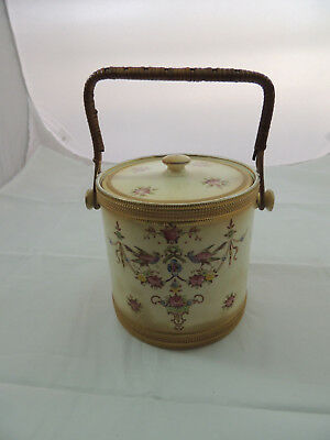 Antique Crown Devon Fielding's Stoke On Trent England  Biscuit Jar