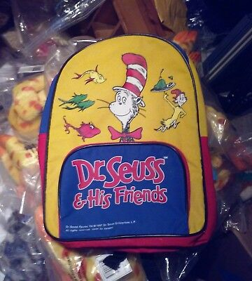 Dr Seuss & His Friends BACKPACK Yellow Red Blue School BAG KIDS Small child