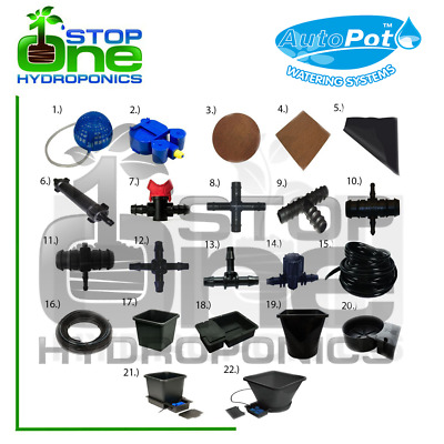 Autopot Irrigation Watering System Parts/Spare Accessories Connectors Hydroponic