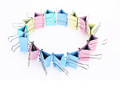10Pcs Colorful Metal Binder Clips 15mm Letter Paper Clip Office Binding Product