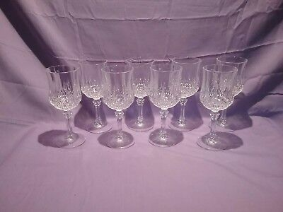 Cristal d'Arques Longchamp Water/Wine Glasses Set of 8 7 1/4""