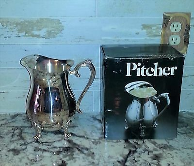 Leonard Silverplated Footed Water Pitcher with Ice Guard Signed in Box Silver