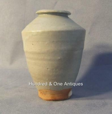 Antique Chinese Celadon Longquan Vase Yuan early Ming Dynasty 14th 15th Century