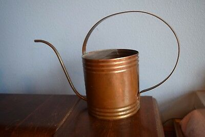 Art Deco Antique Holli-Ware Copper & Brass Long Spout Medium Watering Can