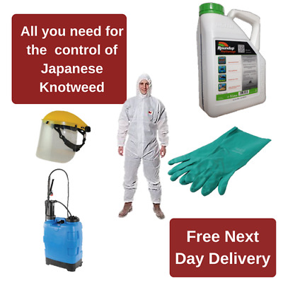 Japanese Knotweed Control Kit With Medium Coveralls