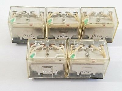 Lot of 5 Omron LY4N 24VDC Relay