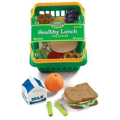 Healthy Lunch Play Food Set With Basket Learning Resources 18pcs