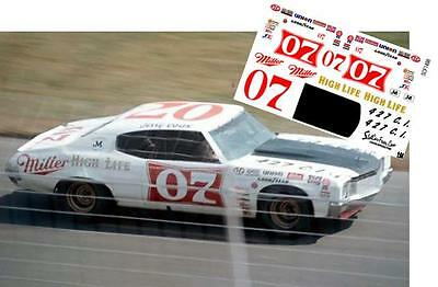 CD_1498 #07 Jerry Cook   Miller Chevelle   1:24 scale decals