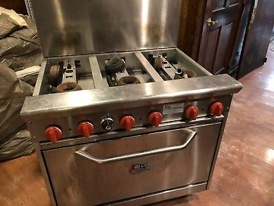 """Cooking Performance Group Gas 6 Burner 36"""" Range with Oven 36CPGV6 - USED"""