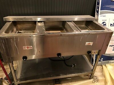 Advance Tabco HF-3E-120 Electric Hot Food Table - USED