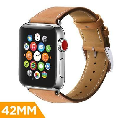 Leather Band Bracelet Strap Wrist Bands for 42mm iWatch Apple Watch Series 1/2/3