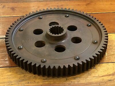 Vintage Very Heavy Cast Iron Industrial Gear With Large Teeth - Steampunk Decor!