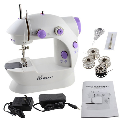 Mini Portable Sewing Machine with Light and Foot Pedal Adjustable Speed