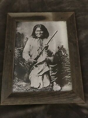 Geronimo Framed Print Early 1900s Old Wood Frame