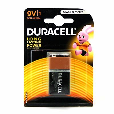 Duracell 9V Long Lasting 6LF22 MN1604 Battery Free same day 1st Class dispatch