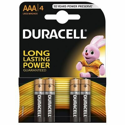 Duracell AAA 1.5V Alkaline Batteries LR03/MN2400 Pack of 4 Free Same Day Dispach