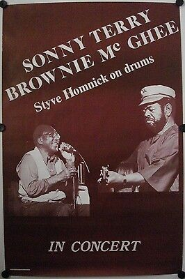 Affiche Concert Blues SONNY TERRY - BROWNIE McGEE