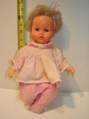 Vintage Vinyl Hard Plastic Doll Ideal Toy Corp 1971 Tiny Tears 14 Inch