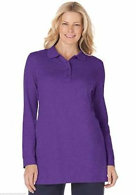Woman Within long sleeve polo shirts , size medium to 5 X  , different colors