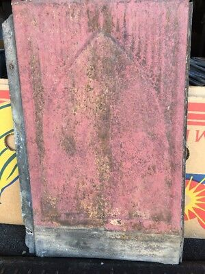 LOT OF 250 ANTIQUE TIN METAL RECLAIMED Pressed ROOF CEILING TILES 9X14 RED