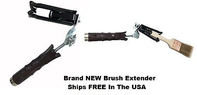 Brush Extender for All Paint Brushes & Extension Poles - New - Ships FREE In USA