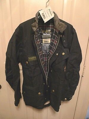 Barbour- A7 International  Waxed Cotton Jacket-Iconic-New Old Stock-Made @uk-46